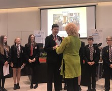 Redruth HF gives plaque