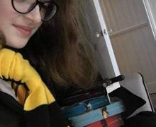 Reading at home  Harry Potter