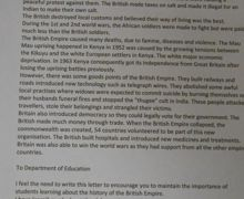 1 Chloe James year 8 letter to Department for Education  History